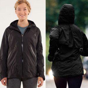 LULULEMON Black Rise & Shine hooded Jacket sz 4